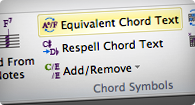 Recognizes chord symbols automatically